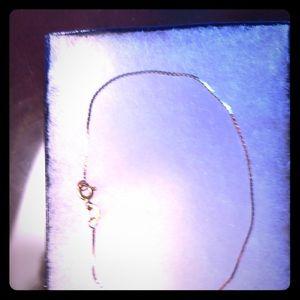 """Jewelry - 14 KT gold 7"""" long fine herringbone bracelet"""